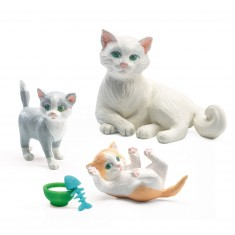 Figurines pour maison de poupées : Les chats