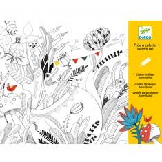 Frise à colorier : Butterfly Ball