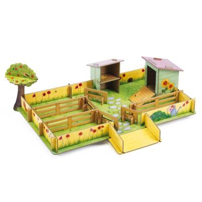 jeu de construction en carton pop to play la ferme de marie jeux et jouets djeco avenue. Black Bedroom Furniture Sets. Home Design Ideas