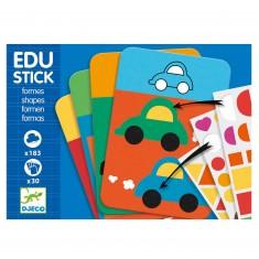 Jeu Eduludo Djeco : Edu Stick Formes