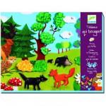 Kit de fabrication d'un tableau qui bouge : Coucou les animaux