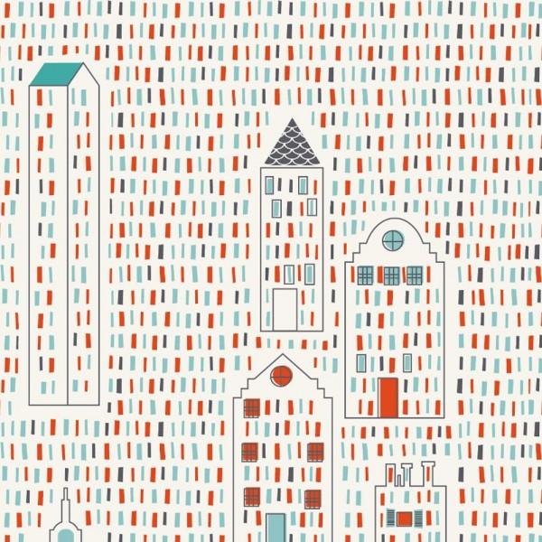 Lé de papier peint City pour chambre Téo - Djeco-DD04281