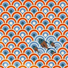 Lé de papier peint Sardines pour chambre Marin