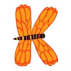 Lettre animaux en bois : K