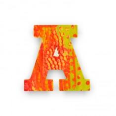Lettre décorative en bois Paon : A