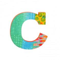 Lettre décorative en bois Paon : C