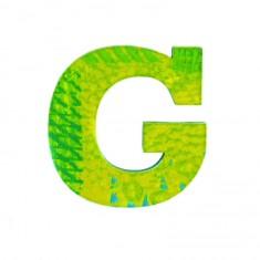 Lettre décorative en bois Paon : G