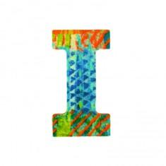 Lettre décorative en bois Paon : I