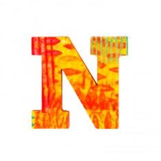 Lettre décorative en bois Paon : N