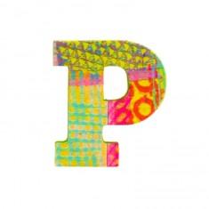 Lettre décorative en bois Paon : P