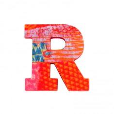 Lettre décorative en bois Paon : R