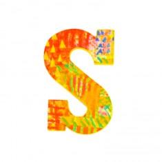Lettre décorative en bois Paon : S
