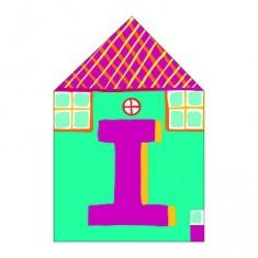 Lettre petite maison en bois : I