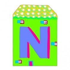 Lettre petite maison en bois : N