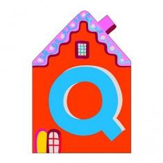 Lettre petite maison en bois : Q