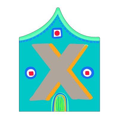 Lettre petite maison en bois : X - Djeco-DD04893