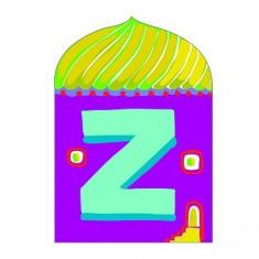 Lettre petite maison en bois : Z