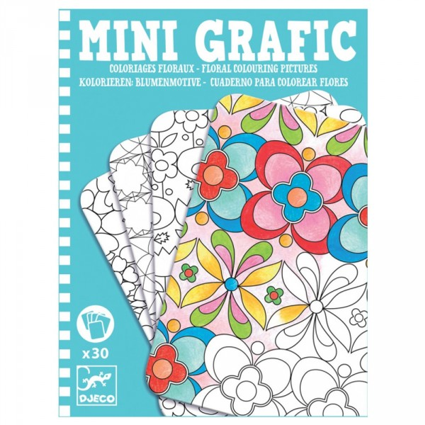 Mini Grafic : Coloriages floraux - Djeco-05380
