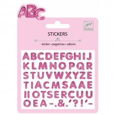Mini stickers : Lettres glitter