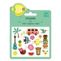 Mini stickers : Motifs Hawaï