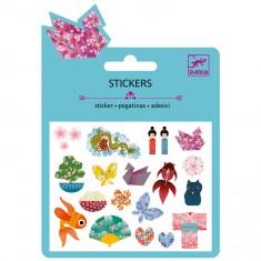 Mini stickers : Motifs japonais