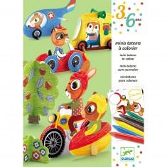 Mini-totems à colorier : Vroum vroum