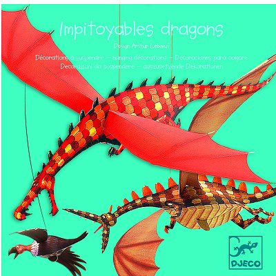 Mobile en papier : Impitoyables dragons - Djeco-DD04956