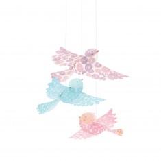 Mobiles en papier : Oiseaux à paillettes