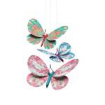 Mobiles en papier : Papillons paillettes