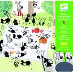 Motifs à tamponner : Les petites souris