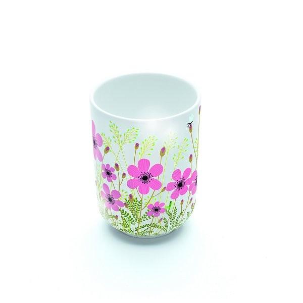 Mug en porcelaine Crème fleurette : 7.8 cm - Djeco-DD02709
