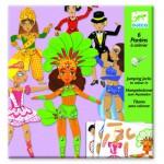 Pantins à colorier : Dance