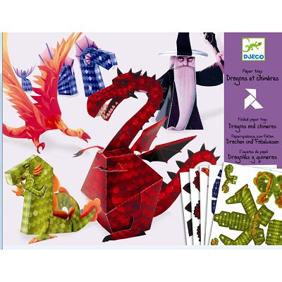 Paper toys : Dragons et chimères - Djeco-09673
