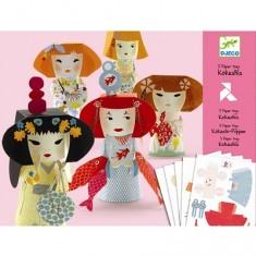Paper toys : Kokeshis