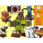 Paper toys : Urban robots potes