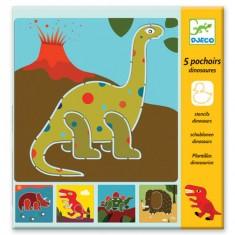 Pochoir Dinosaures x5