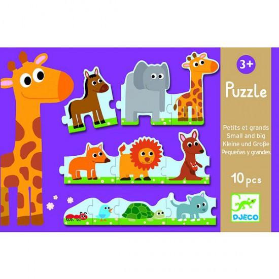 Puzzle 10 pièces : Petits et grands - Djeco-08167