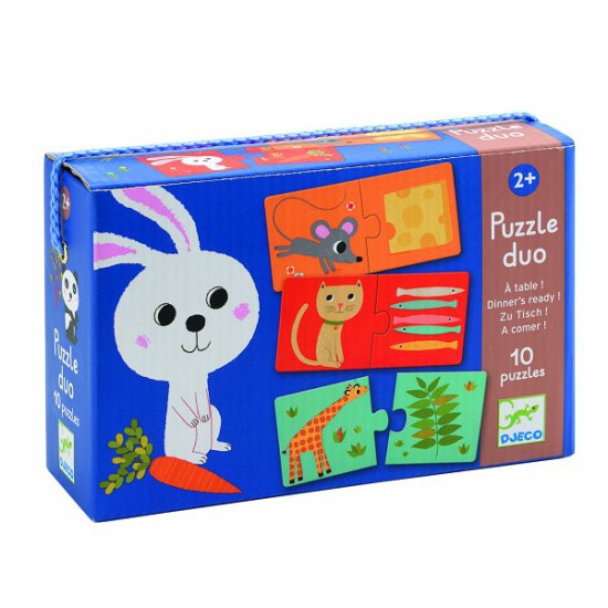 Puzzle 10 x 2 pièces : Duo A table ! - Djeco-08166