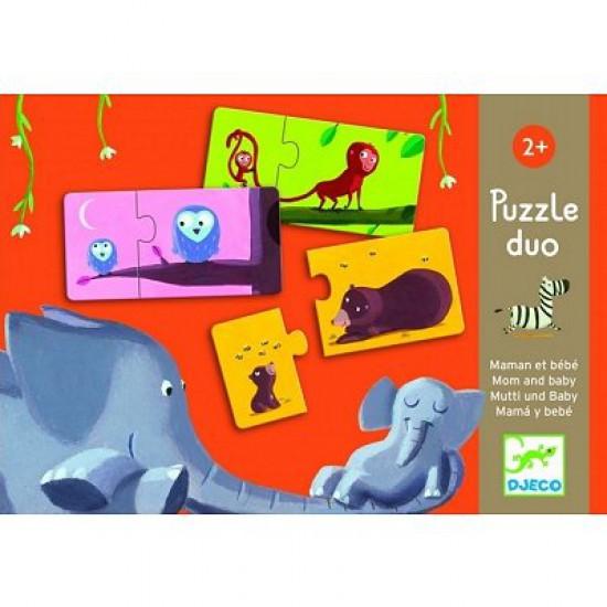 Puzzle 10 x 2 pièces - Duo Maman et bébé - 8157