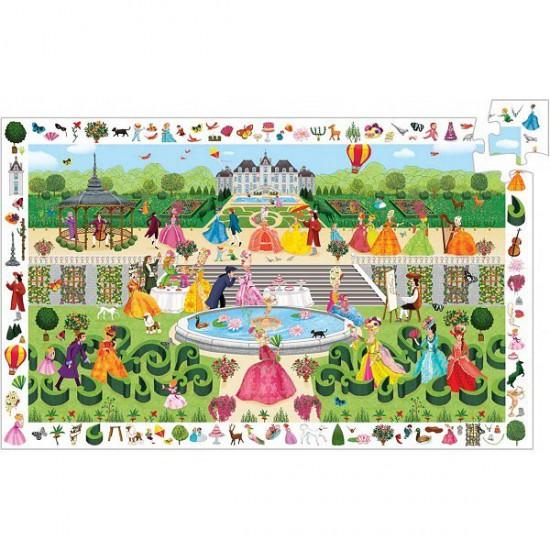 Puzzle 100 pièces - Puzzle observation : Garden Party - Djeco-07505