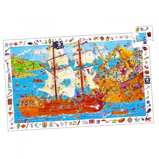 Puzzle 100 pièces - Les pirates - Djeco-07506