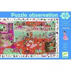 Puzzle 100 pièces - Poster et jeu d'observation : Danse