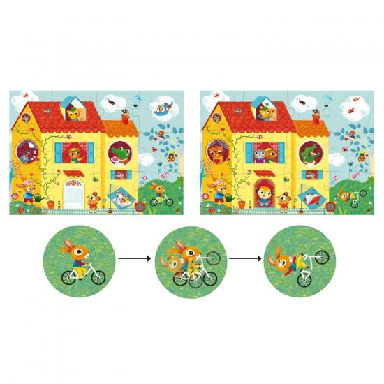 Puzzle 12 + 8 pièces Optic : La maison - Djeco-DJ07010