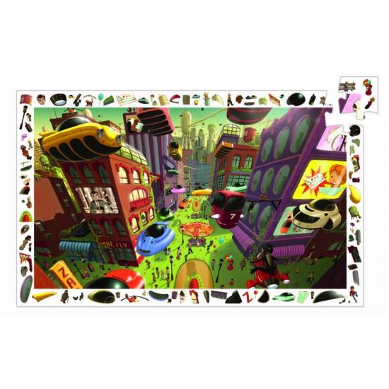 Puzzle 200 pièces : Ville du futur - Djeco-07459