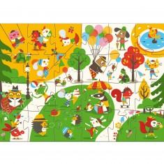 Puzzle 24 pièces : Géant Flocky : Le square