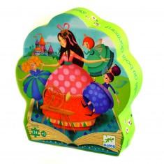 Puzzle 24 pièces : Silhouette : La belle au bois dormant