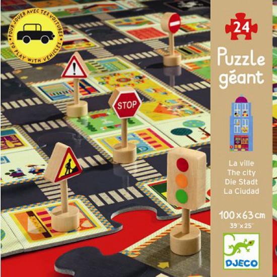 Puzzle 24 pièces - La ville - Djeco-07161