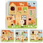 Puzzle 3 niveaux : Cottage des lapins