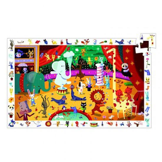 Puzzle 35 pièces - Poster et jeu d'observation : Le cirque - Djeco-07587
