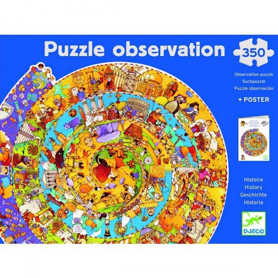 Puzzle 350 pièces rond - Puzzle observation : Histoire - DJ07470